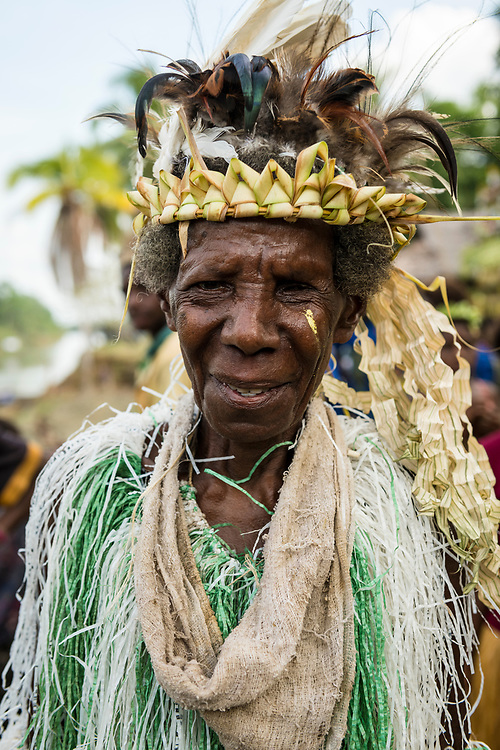 Portrait of a woman during a celebration at Yar village in the East Sepik Province of Papua New Guinea. The community was celebrating the dedication of the New Testament in the Waran language, one of the hundreds of languages in the country.<br /><br />(June 21, 2019)