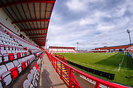 Preparations well underway at the The Hope CBD Stadium ahead of the Ladbrokes Scottish Premiership match between Hamilton Academical FC and Rangers on 24 February 2019.