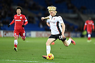 Ben Pringle of Rotherham Utd in action.Skybet football league championship match, Cardiff city v Rotherham Utd at the Cardiff city stadium in Cardiff, South Wales on Saturday 6th December 2014<br /> pic by Andrew Orchard, Andrew Orchard sports photography.