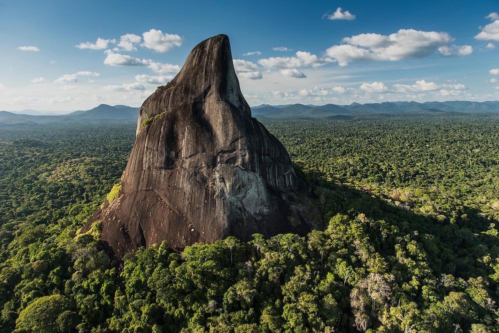 Bottle (battle) Mountain<br /> Granite Outcrop<br /> Savanna <br /> South Rupununi<br /> GUYANA<br /> South America
