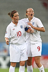 17.07.2010,  Augsburg, GER, FIFA U20 Womens Worldcup, England vs Mexico,  im Bild Michelle Hinnigan (England Nr.10) und Toni Duggan (England Nr.9) , EXPA Pictures © 2010, PhotoCredit: EXPA/ nph/ . Straubmeier+++++ ATTENTION - OUT OF GER +++++