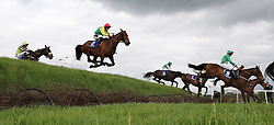 A general view of the field jumping Ruby's Double in The Mongey Communications La Touche Cup Cross Country Steeplechase during day three of the Punchestown Festival at Punchestown Racecourse, County Kildare, Ireland.