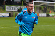 Forest Green Rovers Liam Noble(15) warming up during the Vanarama National League match between Forest Green Rovers and Torquay United at the New Lawn, Forest Green, United Kingdom on 1 January 2017. Photo by Shane Healey.