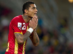 Kevin Prince Boateng of Ghana during the overtime at 2010 FIFA World Cup South Africa Quarter Finals football match between Uruguay and Ghana on July 02, 2010 at Soccer City Stadium in Sowetto, suburb of Johannesburg. Uruguay defeated Ghana after penalty shots. (Photo by Vid Ponikvar / Sportida)