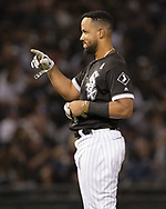 CHICAGO - SEPTEMBER 07:  Jose Abreu #79 of the Chicago White Sox looks on against the Los Angeles Angels on September 7, 2019 at Guaranteed Rate Field in Chicago, Illinois.  (Photo by Ron Vesely)  Subject:   Jose Abreu