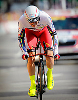Sykkel<br /> Foto: PhotoNews/Digitalsport<br /> NORWAY ONLY<br /> <br /> KRISTOFF Alexander of Team Katusha in action during the stage 1 of the 102nd edition of the Tour de France 2015 a individual time trial with start in Utrecht and finish in Utrecht, Netherlands (13,8 kms) *** UTRECHT, NETHERLANDS - 4/07/2015