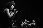 R&B and soul singer Macy Gray performing in De Oosterpoort.in Groningen.