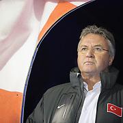 Turkey's coach Guus HIDDINK during their UEFA EURO 2012 Play-off for Final Tournament Second leg soccer match Croatia betwen Turkey at Maksimir stadium in Zagreb November15, 2011. Photo by TURKPIX