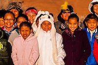 Navajo children at the Red Rock Balloon Rally, Red Rock State Park, Gallup, New Mexico USA.