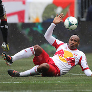 Jamison Olave, New York Red Bulls, in action during the New York Red Bulls V D.C. United, Major League Soccer regular season match at Red Bull Arena, Harrison, New Jersey. USA. 16th March 2013. Photo Tim Clayton