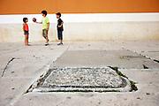 Zadar, Croatia, Jun 16, 2010, Children playing at the Sveti Donat. PHOTO © Christophe Vander Eecken  .
