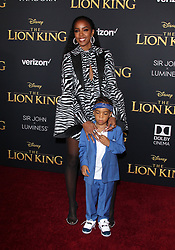 """The World Premiere Of Disney's """"THE LION KING"""". 09 Jul 2019 Pictured: Kelly Rowland, Titan Jewell. Photo credit: Jen Lowery / MEGA TheMegaAgency.com +1 888 505 6342"""