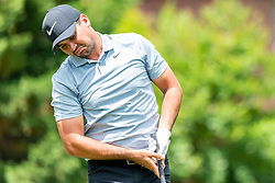 May 4, 2019 - Charlotte, NC, U.S. - CHARLOTTE, NC - MAY 04: Jason Day reacts to his shot from the 4th hole tee box during the third round of the Wells Fargo Championship at Quail Hollow on May 4, 2019 in Charlotte, NC. (Photo by William Howard/Icon Sportswire) (Credit Image: © William Howard/Icon SMI via ZUMA Press)