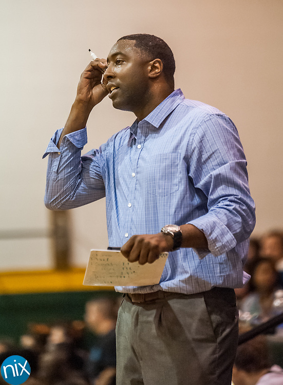 New Central Cabarrus head coach Kenyan Weaks during to a game against Northwest Cabarrus Friday night at Central Cabarrus High School. Central won the game 47-46.