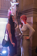 ANISA ARSLANAGIC; RACHEL TYLER-SMYTH, Ball at to celebrateBlanche Howard's 21st and  George Howard's 30th  birthday. Dress code: Black Tie with a touch of Surrealism. Castle Howard. Yorkshire. 14 November 2015