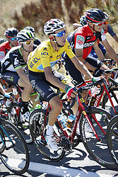 July 15, 2017 - Rodez, FRANCE - Italian Fabio Aru of Astana Pro Time wearing the yellow jersey of overal leader pictured in action during the 14th stage of the 104th edition of the Tour de France cycling race, 181,5 from Blagnac to Rodez, France, Saturday 15 July 2017. This year's Tour de France takes place from July first to July 23rd. BELGA PHOTO YUZURU SUNADA (Credit Image: © Yuzuru Sunada/Belga via ZUMA Press)