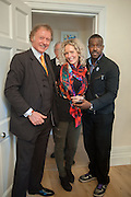 RICHARD BRIGGS; ALEXANDRA DAVIDSON; ORLANDO HAMILTON, Party given by Basia Briggs and Richard Briggs at their home in Chelsea. London. 14 May 2012