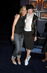 Left to right, KIM HERSOV and JULIA PEYTON-JONES at a party held at Tramp nightclub, 38 Jermyn Street, London to celebrate the opening of an exhibition by Martin Creed at the Hauser & Wirth London gallery, 196a Piccadilly, London on 12th October 2004.<br /><br />NON EXCLUSIVE - WORLD RIGHTS