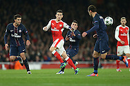Laurent Koscielny of Arsenal (c) in action. UEFA Champions league group A match, Arsenal v Paris Saint Germain at the Emirates Stadium in London on Wednesday 23rd November 2016.<br /> pic by John Patrick Fletcher, Andrew Orchard sports photography.