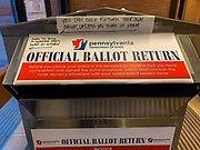 At this Official Ballot Return site, signs remind voters that the only person who can return a ballot is the voter. Exceptions are very limited and must be accompanied by a signed form.