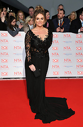 Faye McKeever attending the National Television Awards 2018 held at the O2, London. Photo credit should read: Doug Peters/EMPICS Entertainment