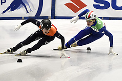 February 8, 2019 - Torino, Italia - Foto LaPresse/Nicolò Campo .8/02/2019 Torino (Italia) .Sport.ISU World Cup Short Track Torino - 1500 meter Men Quater Finals.Nella foto: Friso Emons, Tommaso Dotti..Photo LaPresse/Nicolò Campo .February 8, 2019 Turin (Italy) .Sport.ISU World Cup Short Track Turin - 1500 meter Men Quater Finals.In the picture: Friso Emons, Tommaso Dotti (Credit Image: © Nicolò Campo/Lapresse via ZUMA Press)