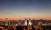 Israel, Tel Aviv cityscape at dusk