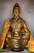 Image of an emaciated Buddha at the Mahakala at the Brahamyoni Mountain shrine Bodh Gaya India