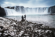 Goðafoss , Iceland, 5 apr 2019, The Goðafoss waterfall is one of the most spectacular waterfalls in Iceland. The water of the river Skjálfandafljót falls from a height of 12 meters over a width of 30 meters