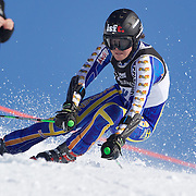 Carl Filip Oester, Sweden, in action during the Men's Giant Slalom competition at Coronet Peak, New Zealand during the Winter Games. Queenstown, New Zealand, 22nd August 2011. Photo Tim Clayton