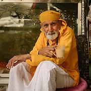 The Guru in charge of keeping the main shrine of Hinglaj.