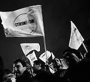 Militanti del Movimento 5 Stelle Beppe Grillo durante la chiusura della campagna elettorale per le elezioni politiche Roma - Piazza San Giovanni 22 febbraio 2013. Matteo Ciambelli / OneShot