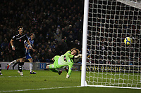 Football - FA Cup Fourth Round - Brighton and Hove Albion vs. Newcastle United<br /> Brighton's Will Buckley opens the scoring at The American Express Community Stadium