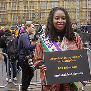 London, UK. 4th March 2018. Dawn Butler is a MP join Women's Day march 2018 marks 100 years since (some) women in the UK were legally allowed to vote. One hundred years on women still marching for equality demand 50/50 women in  Paliament calling for an end sexual harassment, violence and rape.