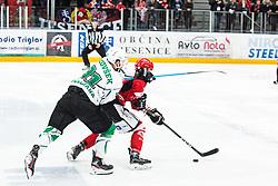 Zan JEZOVSEK during Alps League Ice Hockey match between HDD SIJ Jesenice and HK SZ Olimpija on March 2, 2020 in Ice Arena Podmezakla, Jesenice, Slovenia. Photo by Peter Podobnik / Sportida