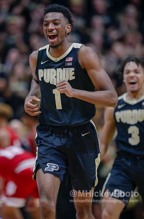 WEST LAFAYETTE, IN - JANUARY 19: Aaron Wheeler #1 of the Purdue Boilermakers is seen during the game against the Indiana Hoosiers at Mackey Arena on January 19, 2019 in West Lafayette, Indiana. (Photo by Michael Hickey/Getty Images) *** Local Caption *** Aaron Wheeler