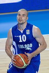 04.09.2013, Arena Bonifka, Koper, SLO, Eurobasket EM 2013, Tuerkei vs Finnland, im Bild Tuukka Kotti #10 of Finland // during Eurobasket EM 2013 match between Turkey and Finland at Arena Bonifka in Koper, Slowenia on 2013/09/04. EXPA Pictures © 2013, PhotoCredit: EXPA/ Sportida/ Matic Klansek Velej<br /> <br /> ***** ATTENTION - OUT OF SLO *****