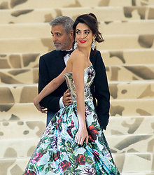 Heavenly Bodies: Fashion & The Catholic Imagination Costume Institute Gala Metropolitan Museum of Art, NY. 07 May 2018 Pictured: George Clooney, Amal Clooney. Photo credit: RCF / MEGA TheMegaAgency.com +1 888 505 6342