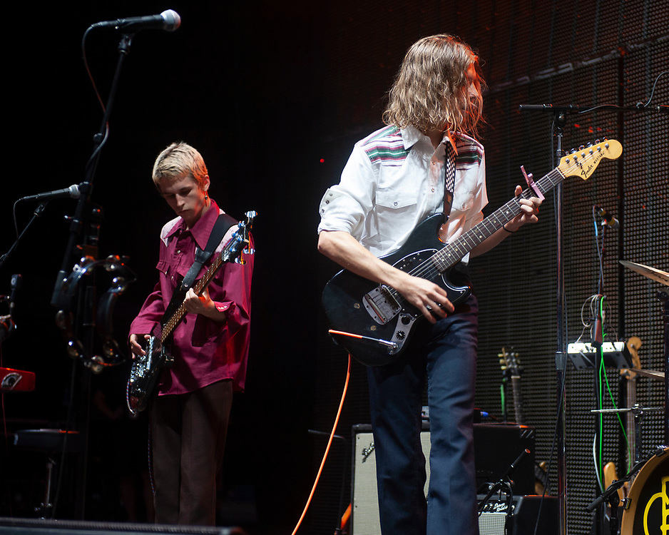 Seth, left, and Josiah of Greer performing at Pacific Amphitheatre August 26, 2021.