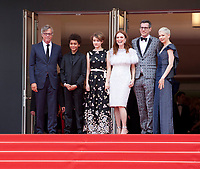 Todd Haynes, Jaden Michael, Millicent Simmonds, Julianne Moore, Brian Selznic, Michelle Williams at the Wonderstruck gala screening,  at the 70th Cannes Film Festival Thursday May 18th 2017, Cannes, France. Photo credit: Doreen Kennedy
