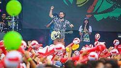 Maneva se apresenta no Palco Atlântida durante a 22ª edição do Planeta Atlântida. O maior festival de música do Sul do Brasil ocorre nos dias 3 e 4 de fevereiro, na SABA, na praia de Atlântida, no Litoral Norte gaúcho.  Foto: Lucas Uebel / Agência Preview