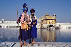 The Golden Temple at Amritsar; Punjab; India,