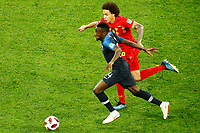 SAINT PETERSBURG, RUSSIA - JULY 10: Blaise Matuidi (in front) of France national team and Axel Witsel of Belgium national team vie for the ball during the 2018 FIFA World Cup Russia Semi Final match between France and Belgium at Saint Petersburg Stadium on July 10, 2018 in Saint Petersburg, Russia. MB Media