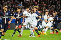 David LUIZ / Thiago MOTTA / Jose Luis PALOMINO / Modibo MAIGA - 28.04.2015 - Paris Saint Germain / Metz - Match en retard - 32eme journee Ligue 1<br />Photo : Nolwenn Le Gouic / Icon Sport