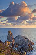 Sunset, Cloudsand Turtle Rock, Golden Gate National Recreation Area, California