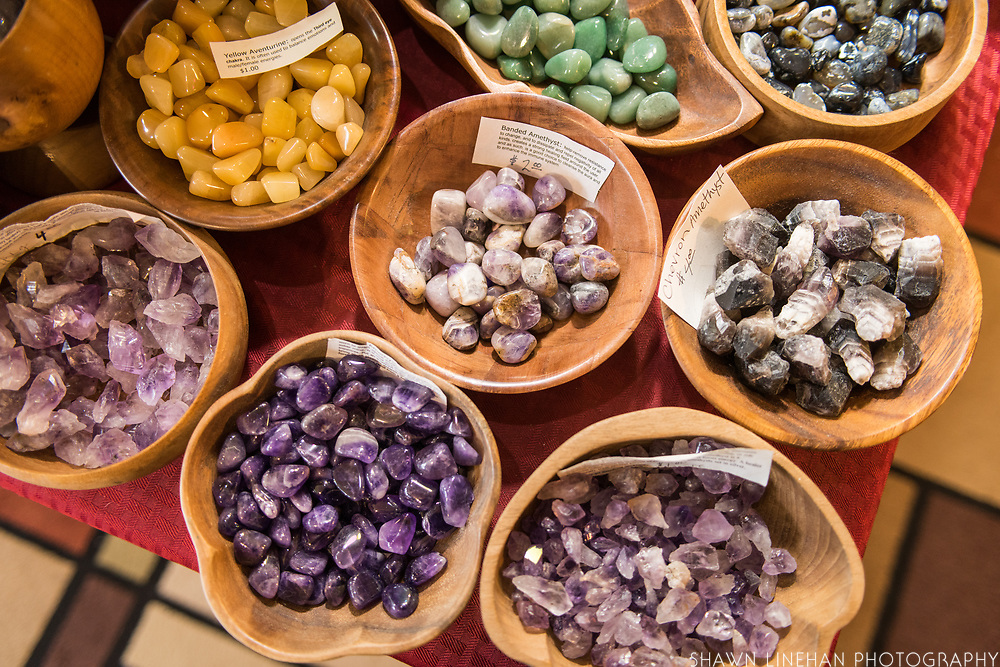 C & H Family Jewels and Lapidary specializes in rare rocks and minerals and has a large collection of amythyst and pocket rocks.