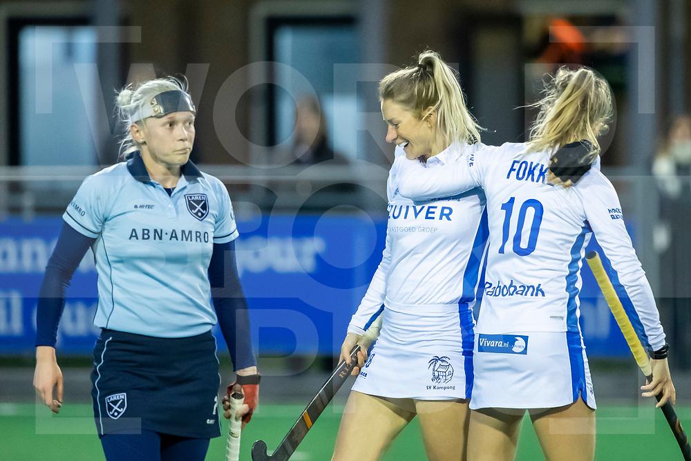 Laren, Hoofdklasse Hockey Dames, Seizoen 2020-2021, 15-04-2021, Laren - Kampong 2-1, Margot Zuidhof (Kampong) scoort de 1-1.<br /><br /> COPYRIGHT WORLDSPORTPICS WILLEM VERNES