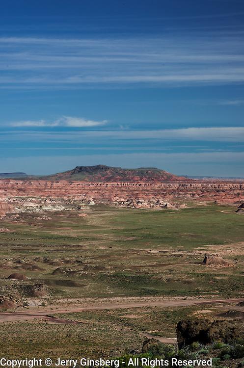 USA, West, Southwest, AZ, Arizona, Petrified Forest, Painted Desert,                                                    Painted Desert from Lacey Point, Petrified Forest National Park, AZ.
