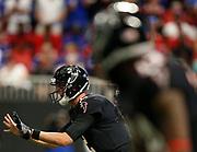 Atlanta Falcons quarterback Matt Ryan (2) calls for the ball in a week 4 NFL football game against the Buffalo Bills Sunday, Oct. 1, 2017 in Atlanta, GA. (Mike Zarrilli/AP Images for Panini, via AP)