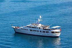 Sorrento, Italy, September 15 2017. The luxury motor Yacht Lady Georgina lies at anchor in Sorrento, Italy. © Paul Davey